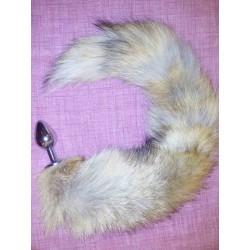 Хвост лисы натуральный с анальной пробкой