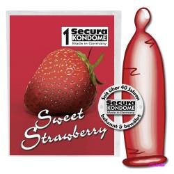 Презервативы СЛАДКАЯ КЛУБНИКА 1 шт (Secura Strawberry)