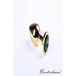 Анальная пробка,Gold Emerald,M