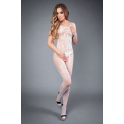 Сетка Bodystocking with hint garter white, S-L (40-46)