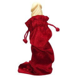 Бархатная красная сумочка